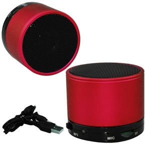 S10 Wireless Bluetooth Mini Hands-free HiFi Speaker with MIC /TF Card Slot for iPad /iPhone /Cellphone /PC /MP3 (Red)