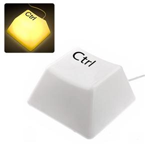 Novelty Ctrl Button Style LED Keypress Light Night Light Lamp (Yellow Light)