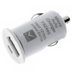 Автомобиль зарядное устройство 12V 1000mA USB адаптер питания для iPhone 4S (белый) .