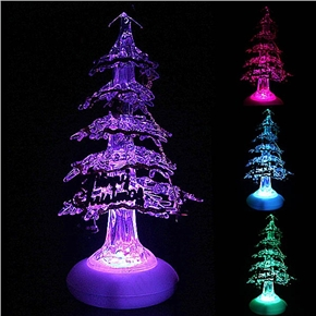 crystal christmas tree style usb powered color changing led desktop small night light - Color Changing Led Christmas Tree