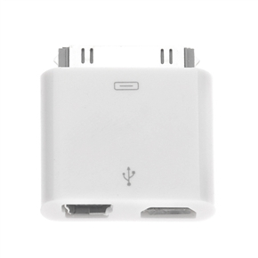 portable 30 pin dock connector to micro usb adapter. Black Bedroom Furniture Sets. Home Design Ideas
