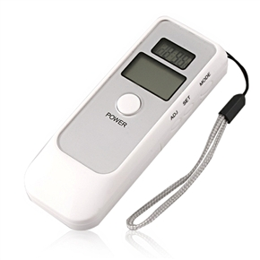 Portable Dual Lcd Display Police Digital Breath Alcohol Tester Breathalyzer With Clock White