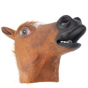 Funny Soft Latex Horse Head Shaped Face Mask for Halloween /Costume Party (Brown)  sc 1 st  BuySKU.com & Funny Soft Latex Horse Head Shaped Face Mask for Halloween /Costume ...