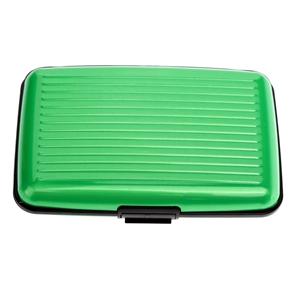 Portable waterproof aluminum 6 slot business id credit card holder portable waterproof aluminum 6 slot business id credit card holder wallet protective case green colourmoves