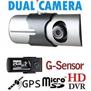 X3000 2 7-inch TFT-LCD Dual-lens Dashboard Camera Car DVR